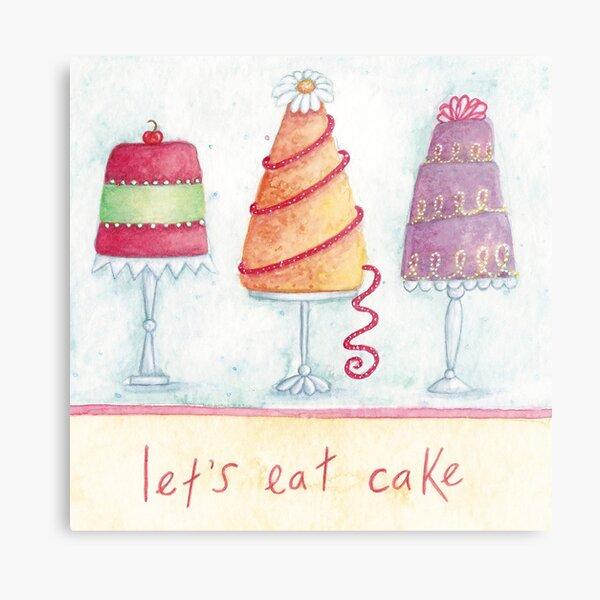 Let's eat cake Metal Print