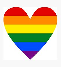 LGBT heart Photographic Print
