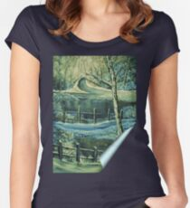'Winters Freeze - Silent Beauty' Women's Fitted Scoop T-Shirt