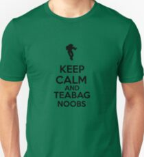 Keep Calm And Teabag Noobs - Black T-Shirt