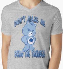 Grumpy Care Bear - Bring the Thunder Men's V-Neck T-Shirt