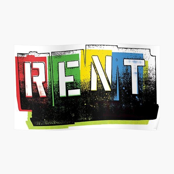 RENT: Broadway Musical Logo (Color) Poster