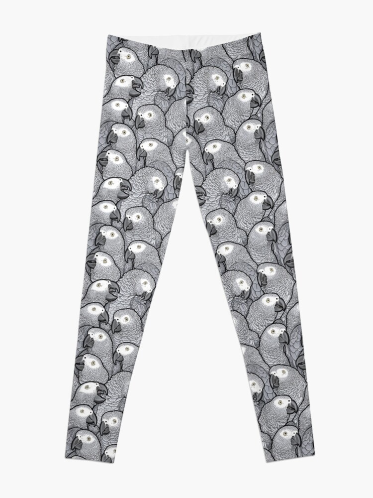 Alternate view of African Grey Parrots Leggings