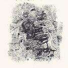 Series Nightmare #3 - Le double Martyre de St Sébastienne - Monotype by Pascale Baud