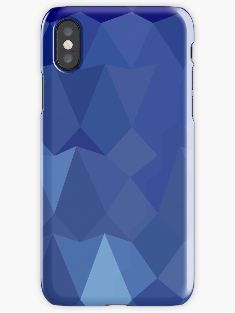 Catalina Blue Abstract Low Polygon Background by retrovectors