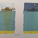 Swanage Pier - Tag und Nacht von AndyKnillArt