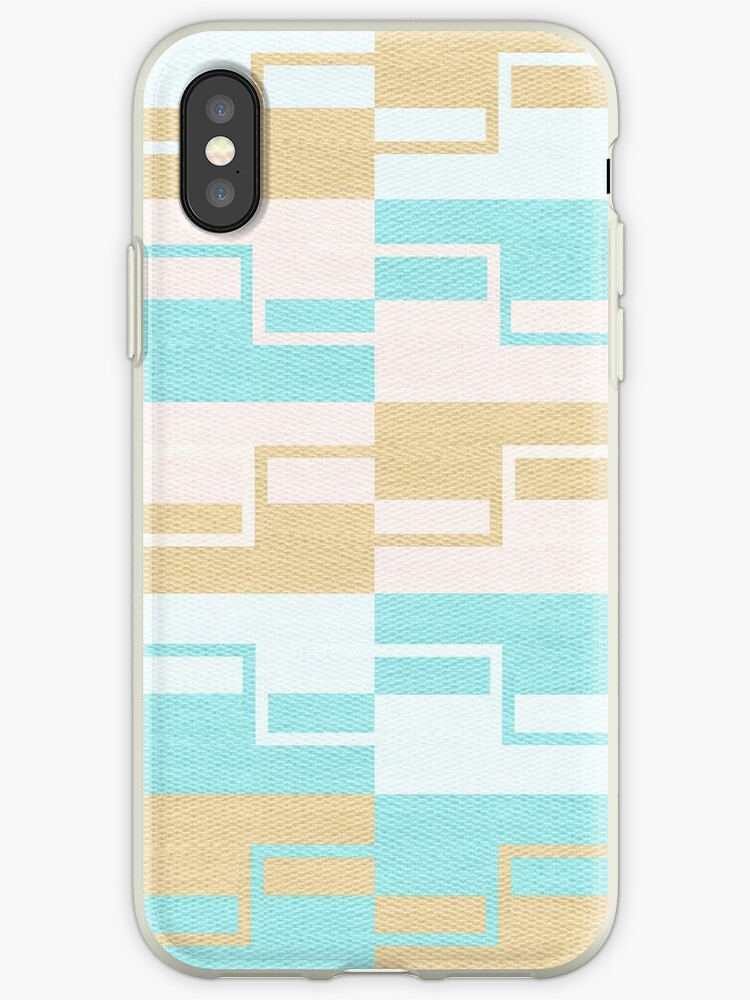 Abstract pastel aqua gold geometric pattern by Kicksdesign