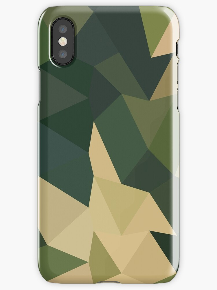 Dark Olive Green Abstract Low Polygon Background by retrovectors