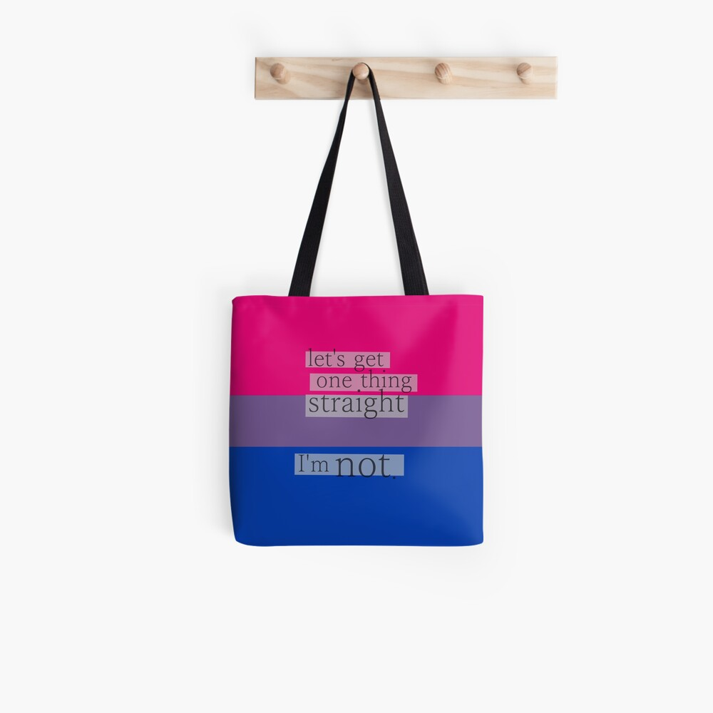 Cotton Bag with text /'Let/'s get one thing straight.. I/'m not!/'