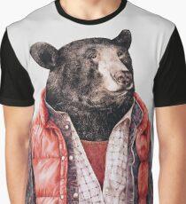 Schwarzbär Grafik T-Shirt
