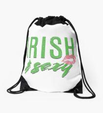 Irish and sexy Girl Saint Patricks Day Celebration T-Shirt Tee Drawstring Bag