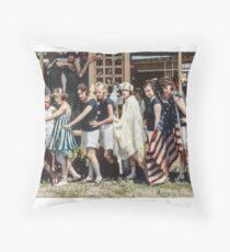 Swimsuit Parade, Seal Beach, California July 14th 1918 Throw Pillow
