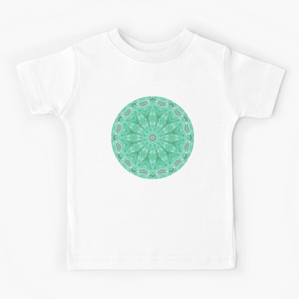 Mint Green Star Flower Kids T-Shirt