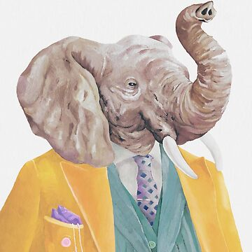 Golden Coated Elephant by AnimalCrew