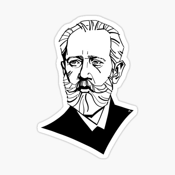Pyotr Tchaikovsky Sticker