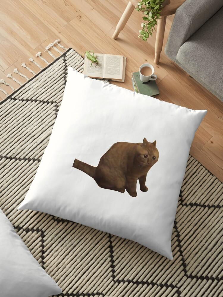 Big Fat Chungus Cat Floor Pillows By Winkatawink Redbubble