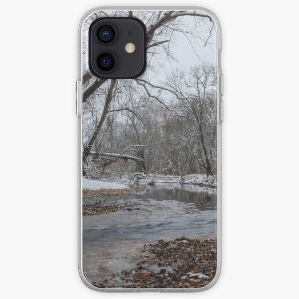 At Finley River In Winter iPhone Soft Case