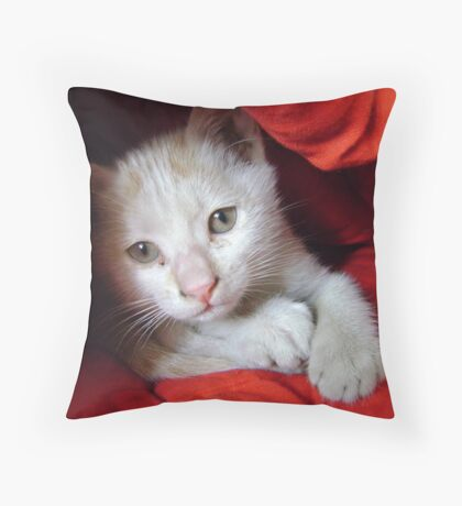 Lady in red Throw Pillow