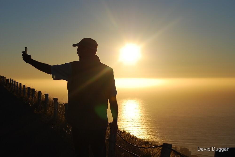 Silhouette Sunset of selfie by David Duggan