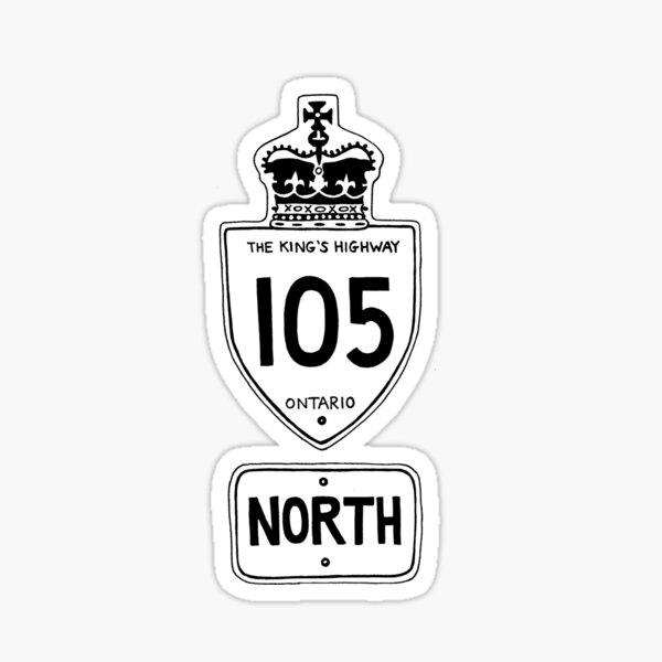 The Highway 105 Updated Sticker