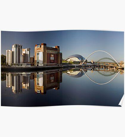 Gateshead Riverside Poster