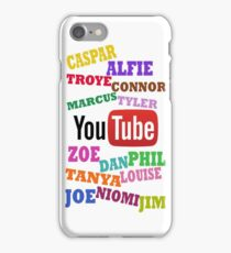 YOUTUBE STARS iPhone Case/Skin
