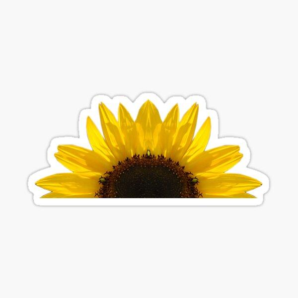 Half Sunflower Sticker