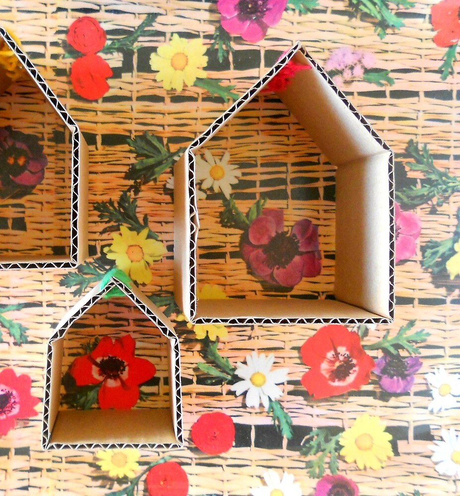 Cardboard houses by hipaholic