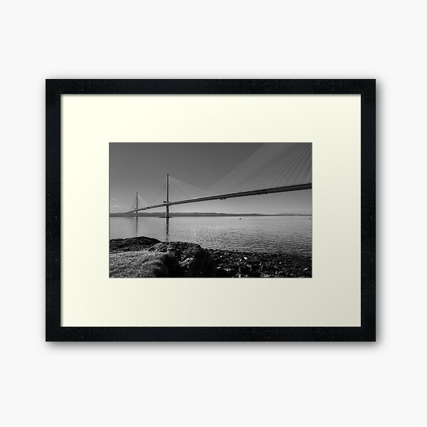 Queensferry Crossing, South Queensferry, Scotland. Framed Art Print