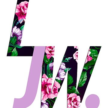LJW Floral Logo Inverted by LJWright
