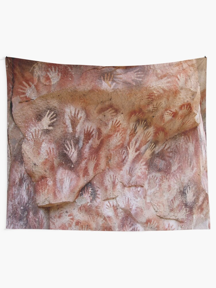 Alternate view of #Cave #painting, #parietal #art, paleolithic cave paintings Tapestry