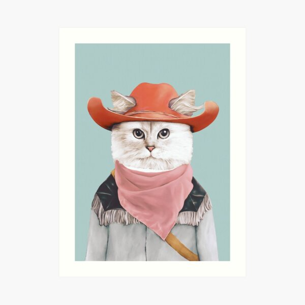 Rodeo Cat Kunstdruck