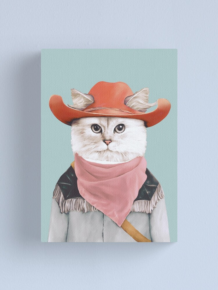 Alternate view of Rodeo Cat Canvas Print