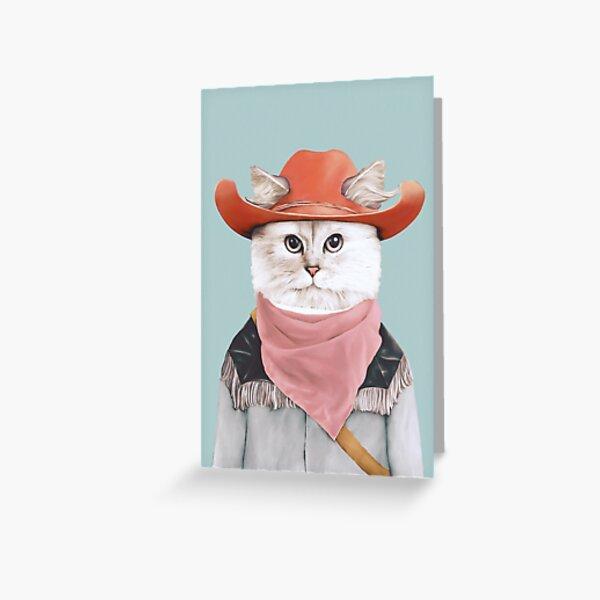 Rodeo Cat Grußkarte