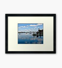 Sky, Water, Reflection Framed Print