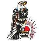 Traditional Proud Eagle Tattoo Design by FOREVER TRUE TATTOO