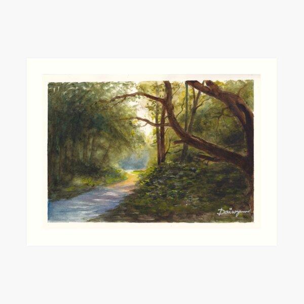 Evening on Wimbledon Common Art Print