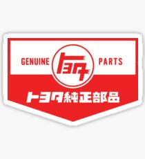Weinlese-Toyota-Teile Sticker