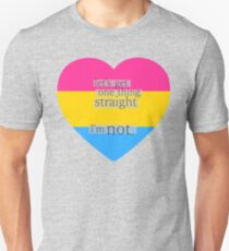 Let's get one thing straight, I'm not - Pansexual heart flag Unisex T-Shirt