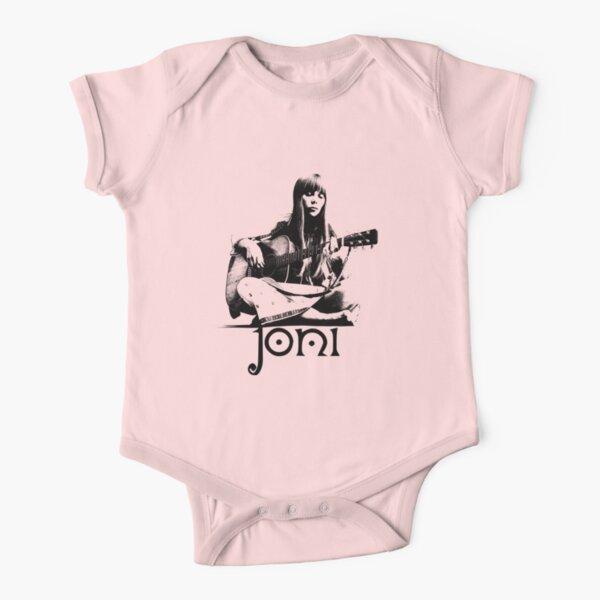 Joni - Black Stencil Short Sleeve Baby One-Piece