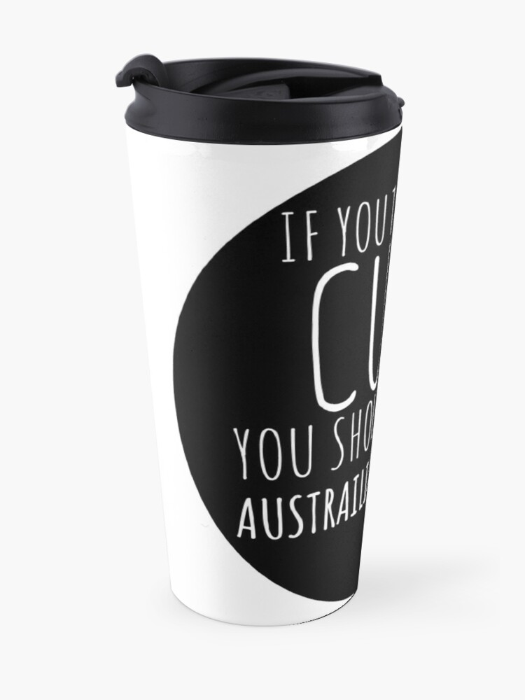 Alternative Ansicht von Wenn Sie denken, dass ich nette australische Schäferhund-Geschenke bin? Thermobecher