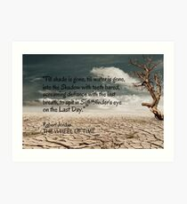 Wheel of Time, Aiel Oath with tree Art Print