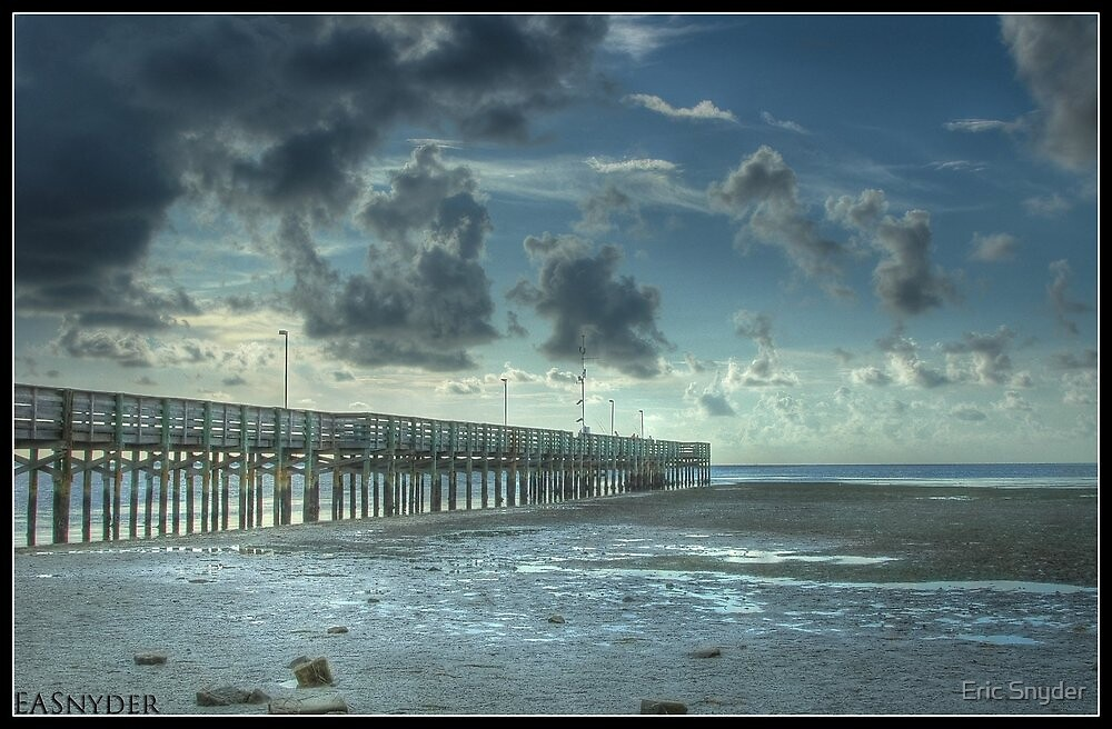 Anclote Fishing Pier Tarpon Spring Florida by Eric Snyder