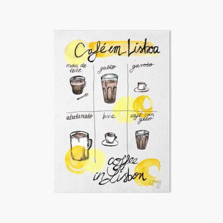 Coffee in Lisbon Art Board Print
