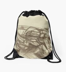 abstract empty landscape Drawstring Bag