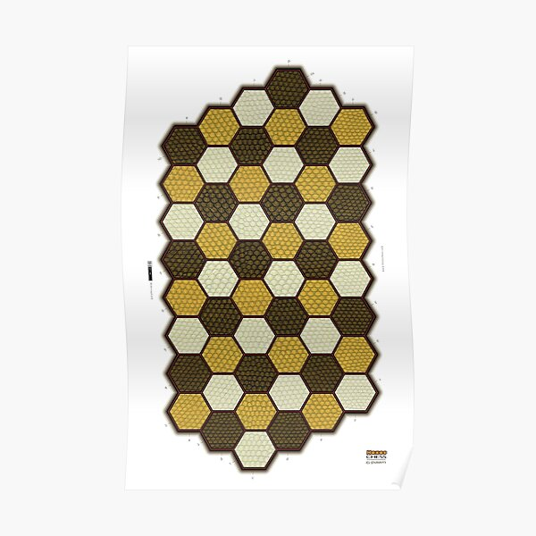 Hexes 6-Pawn Chess Board Poster