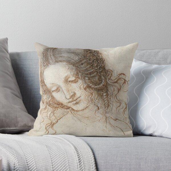 Leonardo da Vinci - Head of Leda Throw Pillow