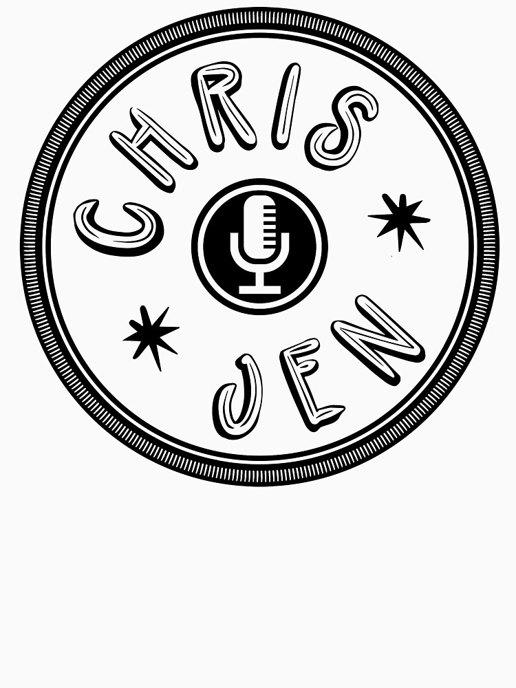 Chris and Jen Circle Stamp (Black) by chrisandjenshow