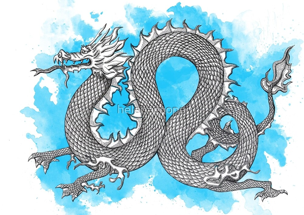 Blue Dragon by helenacooper