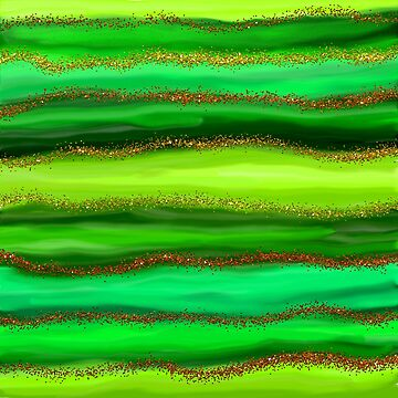 Green Watercolour Stripes by Prawny